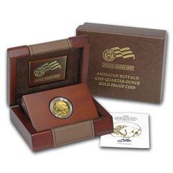 2008-W 1/4 oz Proof Gold Buffalo (w/Box & COA)