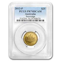 2012-P Australia Gold 25 Dollars PR-70 PCGS (DCAM)