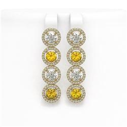 55.41 ctw Sky Topaz & Diamond Halo Necklace 10K Yellow Gold