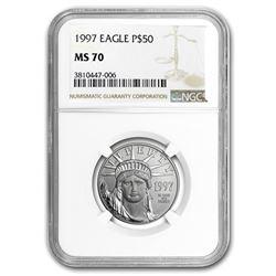 1997 1/2 oz Platinum American Eagle MS-70 NGC