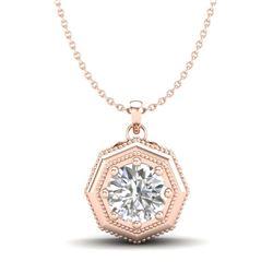 10.4 ctw Amethyst & Diamond Earrings 14K Rose Gold