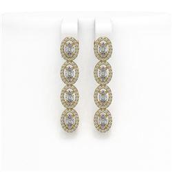 3.50 ctw Blue Sapphire & Diamond Ring 14K White Gold
