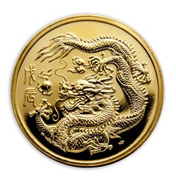 1988 Singapore 1 oz Proof Gold 100 Singold Dragon