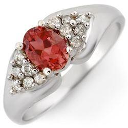 0.63 ctw Emerald & Diamond Ring 14K White Gold