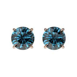 1.02 ctw VS/SI Cushion Diamond Stud Earrings 18K White Gold