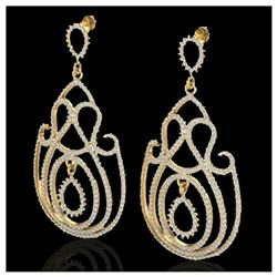 3.05 ctw H-I Diamond Stud Earrings 10K White Gold