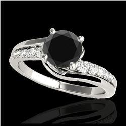 0.83 ctw Fancy Intense Blue Diamond Art Deco Ring 18K Rose Gold
