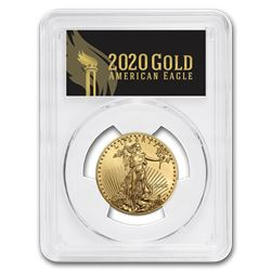 2020 1/2 oz Gold Eagle MS-70 PCGS (First Day\, Black Label)