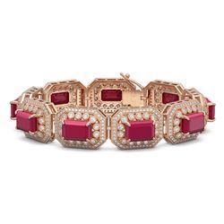 7.46 ctw Peridot & Diamond Halo Earrings 10K Rose Gold