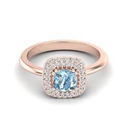 0.88 ctw VS/SI Diamond 2 Stone Ring 14K White & Rose Gold