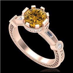 35 ctw Garnet & VS/SI Diamond Bracelet 14K Rose Gold