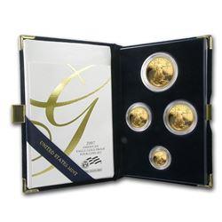 4-Coin Proof Gold American Eagle Set (Random Year\, w/Box & COA)