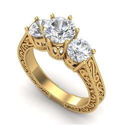 4.68 ctw Citrine & Diamond Ring 14K White Gold