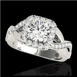 2.15 ctw SI Fancy Blue Diamond Halo Ring 10K Rose Gold