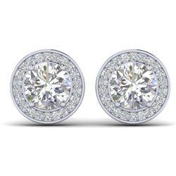 25.36 ctw Jade & Diamond Halo Bracelet 10K White Gold