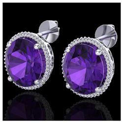 1.50 ctw VS/SI Diamond Heart Earrings 14K Yellow Gold