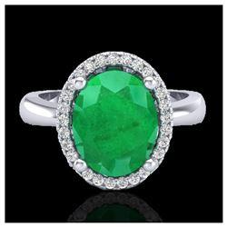 1.12 ctw VS/SI Diamond Solitaire Art Deco Ring 18K Yellow Gold
