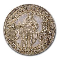 1614 German States Teutonic Order Silver 2 Thaler AU-58 NGC