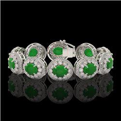 7.94 ctw Morganite & Diamond Earrings 14K White Gold