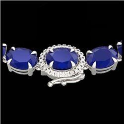 24.02 ctw Citrine & Diamond Bracelet 14K Rose Gold