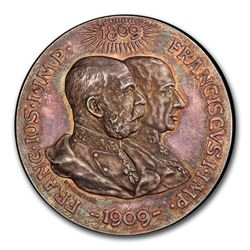 1909 Austria Silver Medal Franz Joseph I SP-65 PCGS