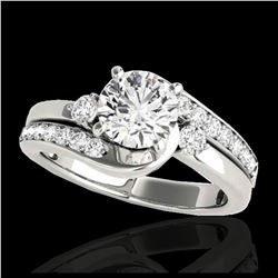 2.01 ctw H-SI/I Diamond Bypass Solitaire Ring 10K Yellow Gold