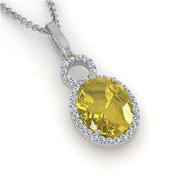 2.50 ctw Ruby & VS/SI Diamond Earrings 10K Yellow Gold