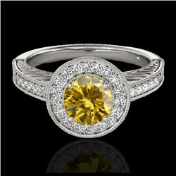 2.50 ctw Citrine And VS/SI Diamond Ring 18K Yellow Gold