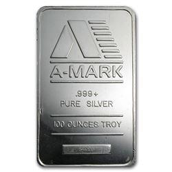 100 oz Silver Bar - A-Mark (Pressed)