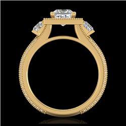 5.33 ctw Sapphire And VS/SI Diamond Ring 18K White Gold