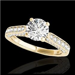 2 ctw SI Fancy Blue Diamond Solitaire Halo Ring 10K Rose Gold