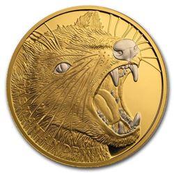 2020 Niue 1 oz Proof Gold Wildlife Up Close (Tasmanian Devil)