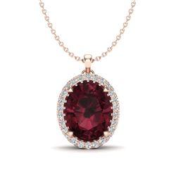 1.95 ctw Canary Citrine & Diamond Necklace 14K Yellow Gold