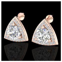 66 ctw Garnet & VS/SI Diamond Eternity Necklace 14K Rose Gold