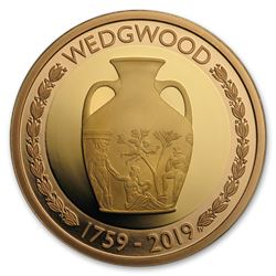 2019 Great Britain £2 Gold Wedgwood 260th Anniversary Proof