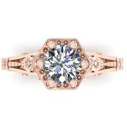 2.66 ctw Princess VS/SI Diamond Art Deco 3 Stone Ring 18K White Gold