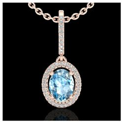 1 ctw H-SI/I Diamond Solitaire Necklace 10K White Gold