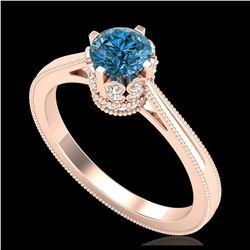 1.43 ctw VS Black Diamond Solitaire Halo Ring 10K White Gold