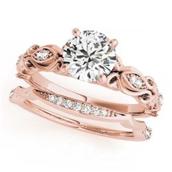 1.14 ctw Orange Sapphire & Diamond Ring 14K Rose Gold
