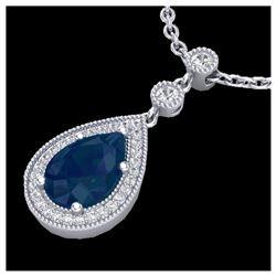 1.0 ctw VS/SI Diamond Heart Necklace 14K White Gold