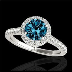 10 ctw Garnet & VS/SI Diamond Ring 18K White Gold
