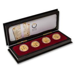 2004-2007 Austria 4-Coin Gold Proof Set