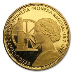 1968 Chile Gold 100 Pesos Proof