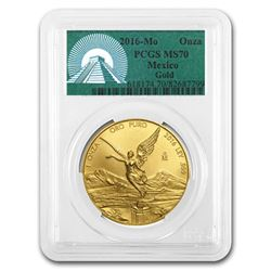 2016 Mexico 1 oz Gold Libertad MS-70 PCGS (Green Label)