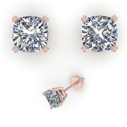 1.57 ctw H-SI/I Diamond Stud Earrings 10K Yellow Gold