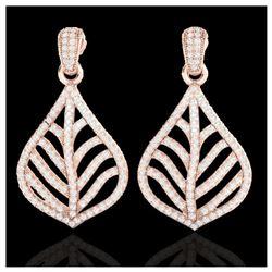 2.25 ctw Amethyst & VS/SI Diamond Necklace 14K Rose Gold