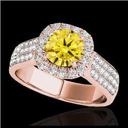 2.07 ctw Fancy Black Diamond Art Deco 3 Stone Ring 18K Yellow Gold