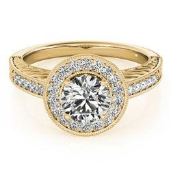 2.50 ctw Citrine And VS/SI Diamond Necklace Halo 14K White Gold