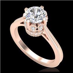4.50 ctw Morganite & VS/SI Diamond Necklace 14K Rose Gold