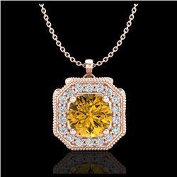 3 ctw VS/SI Diamond Earrings Dangling 14K White Gold